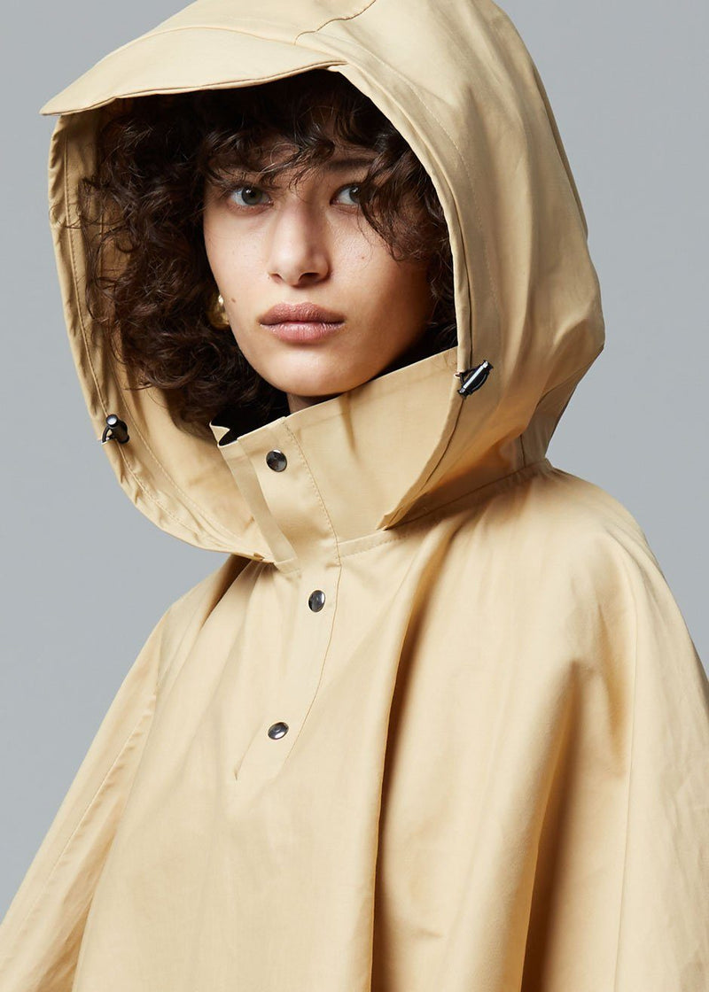 KASSL Editions Trench Poncho Cape - Beige Coat KASSL Editions