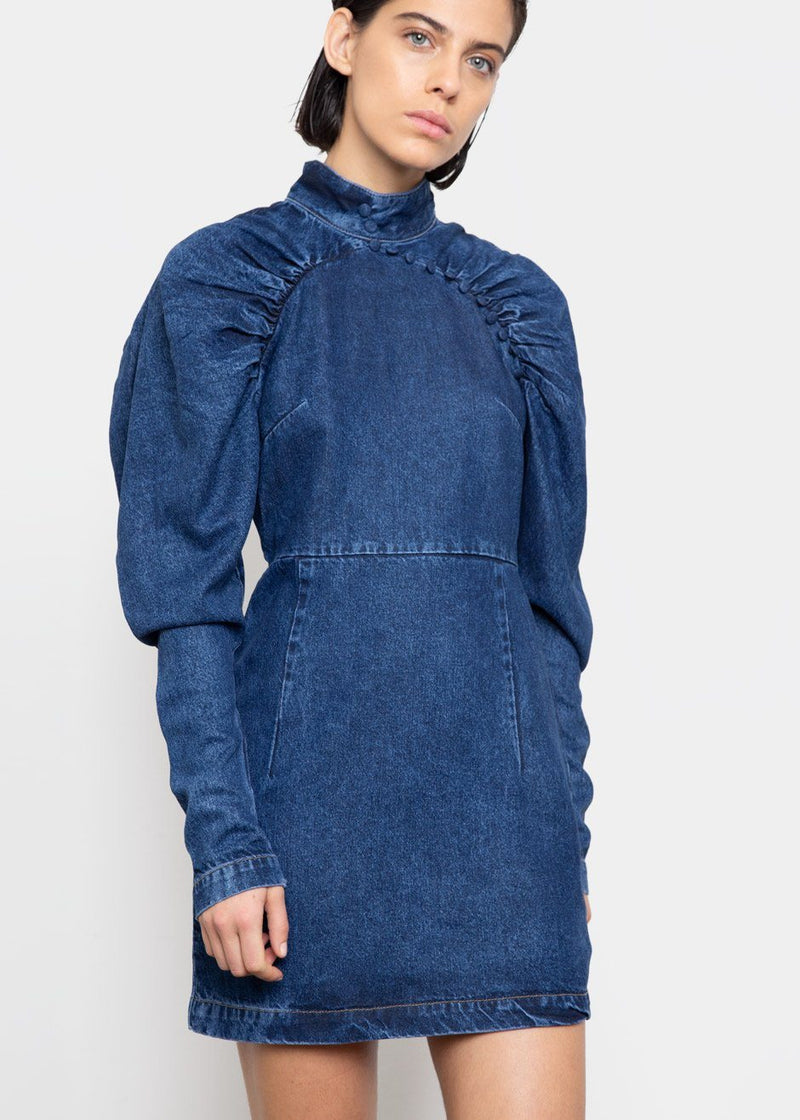 Kim Denim Dress by ROTATE- Medium Blue Dress Rotate