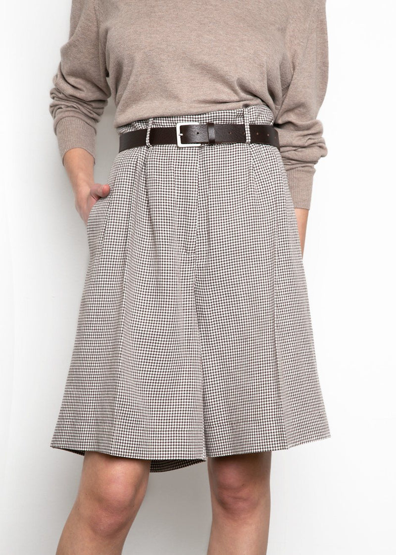 Kit Shorts by Remain Birger Christensen- Butternut Comb shorts Remain