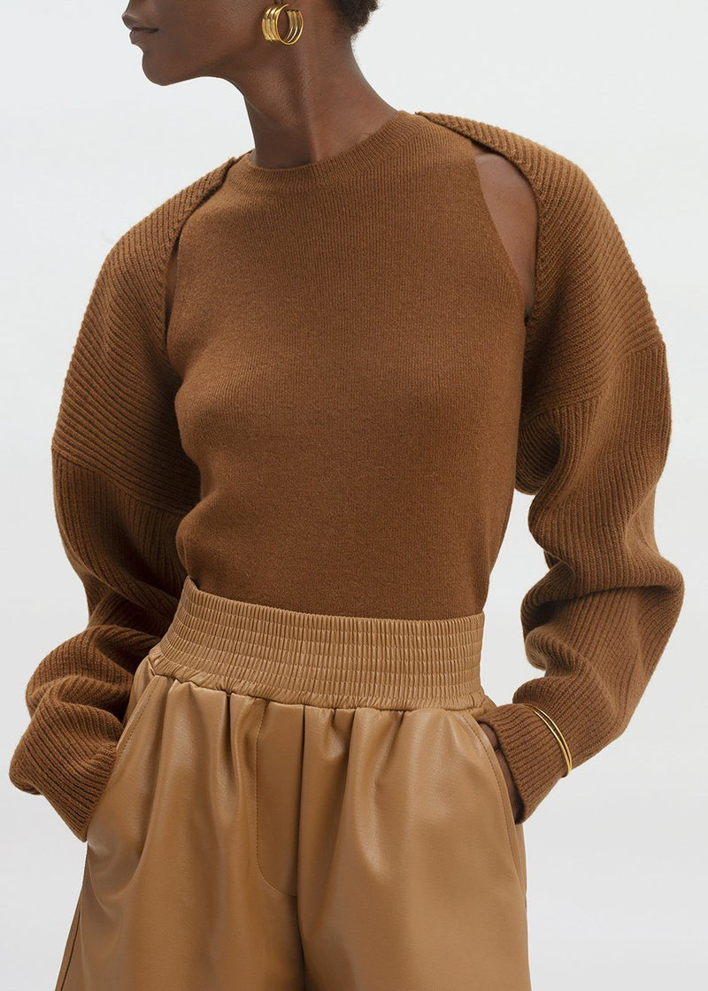 Knit Shrug Set in Spice Sweater The Frankie Shop