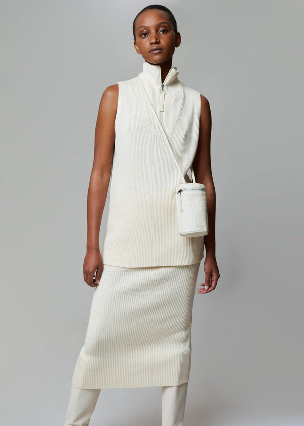 Lada Vest by Rodebjer in Ceramic White Top Rodebjer