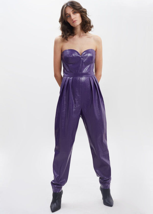 Lana Pantsuit by ROTATE in Violet Indigo Jumpsuit Rotate
