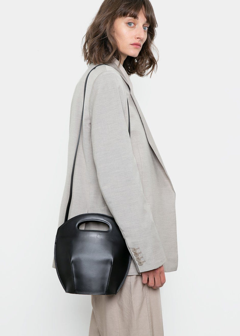 Leather Bucket Bag by Low Classic in Black Bag Low Classic