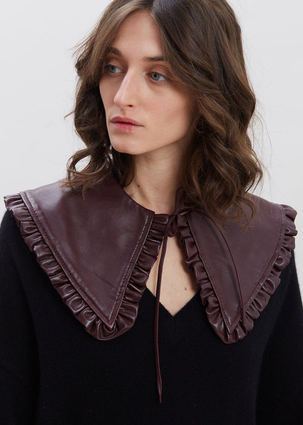 Leather Collar by GANNI in Port Royale Collar Ganni