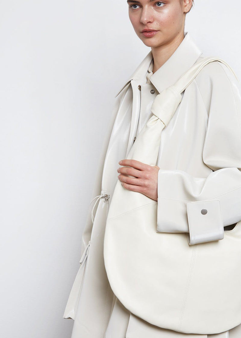 Leather Hobo Bag- Off White Bag The Able