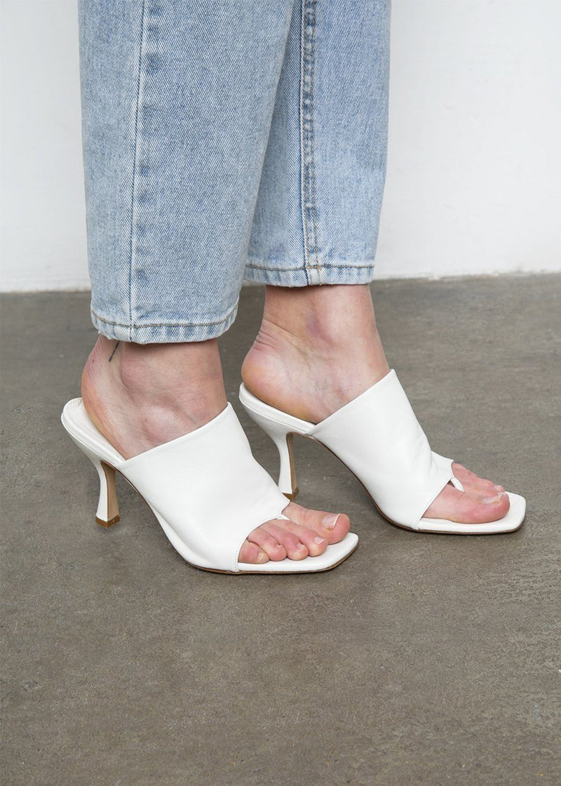 Leather Mule Sandals by GIA X Pernille Teisbaek- White Shoes gia X Pernille Teisbaek