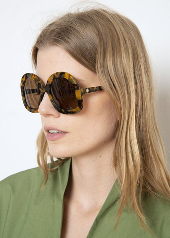 L.F. Markey Tete Sunglasses in Tortoise Shell Sunglasses L.F. Markey