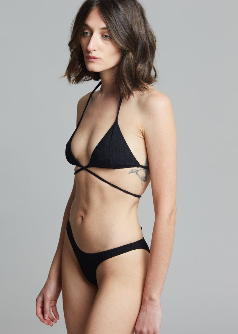 Lido Tredici Rib Swimsuit - Black swimsuit Lido