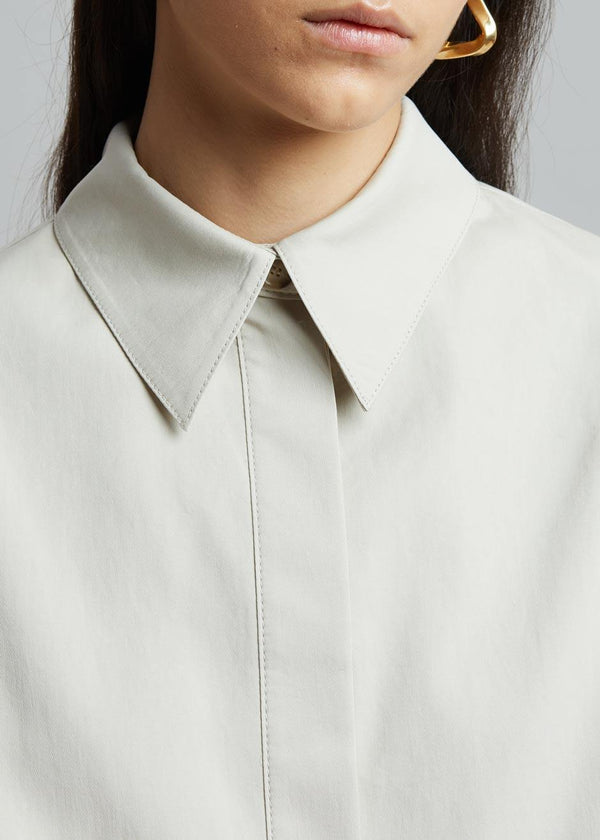 Liesl Utility Shirt in Birch Shirt The Frankie Shop