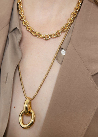 Link Necklace by Gabriela Artigas- Yellow Gold Plated Necklace Gabriela Artigas