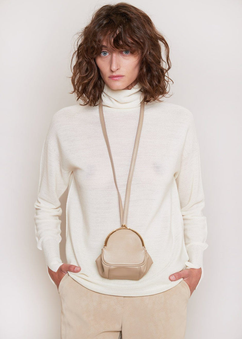 Loop Strap Oversized Coin Bag in Soybean Bag The Frankie Shop