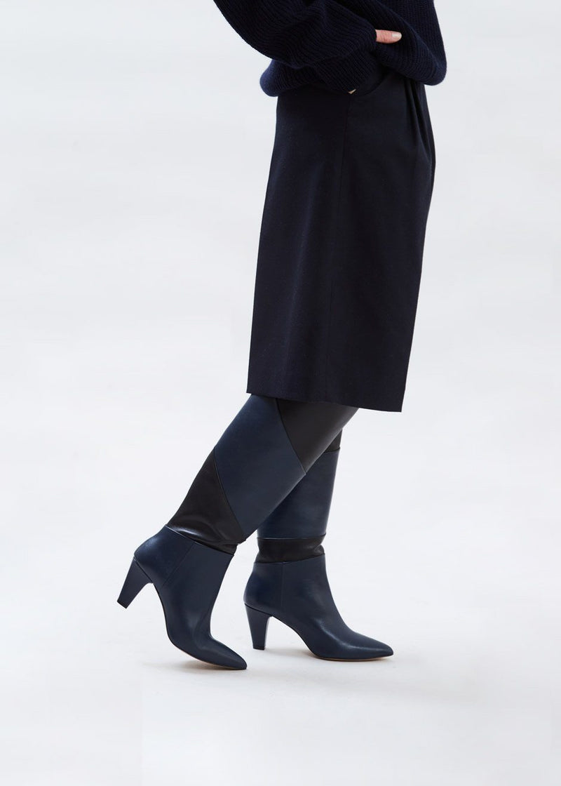 Lorelle Leather Boots by Gestuz in Peacoat Shoes Gestuz