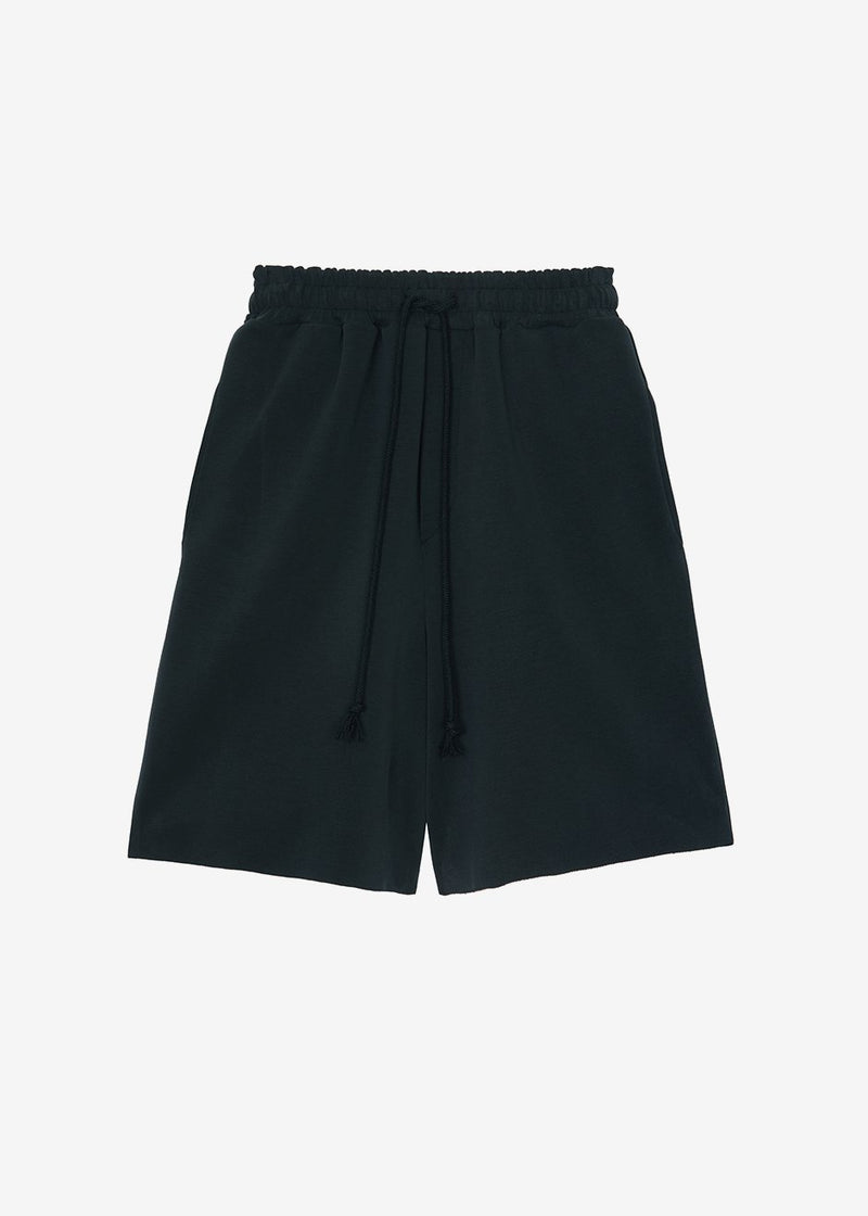 Lotte Neoprene Sweat Shorts in Black Shorts verbena