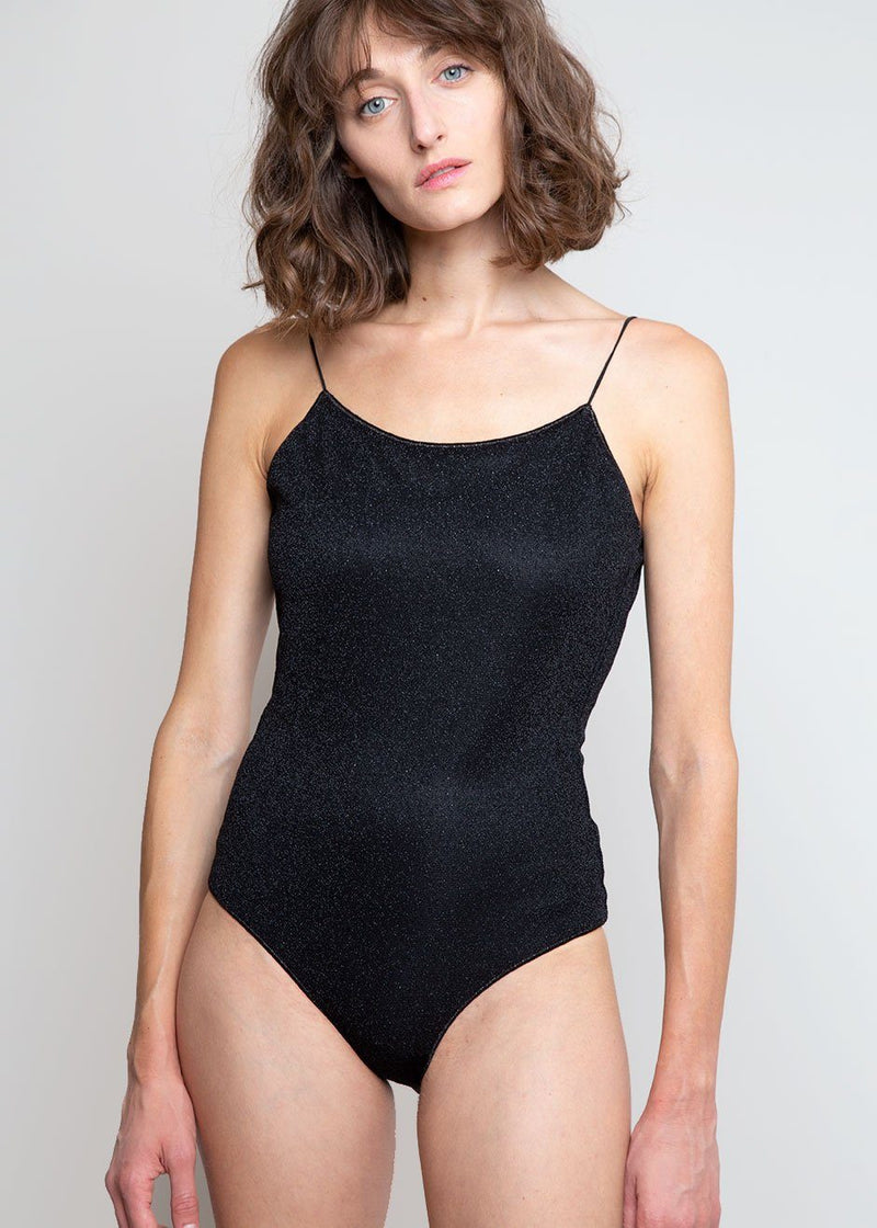 Lumière Lurex Swimsuit by Oséree in Black swimsuit Oseree