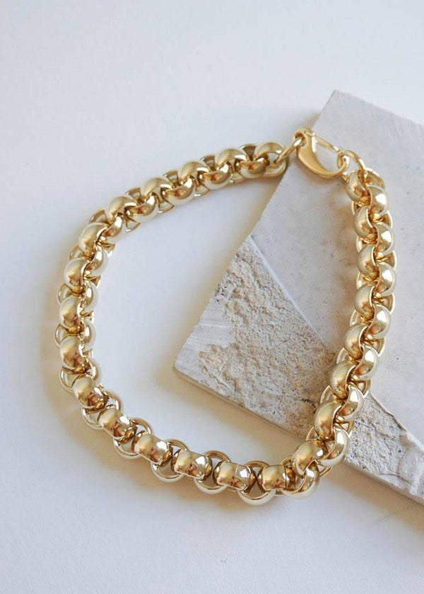 Luna Chain Necklace by Laura Lombardi in Gold Necklace Laura Lombardi