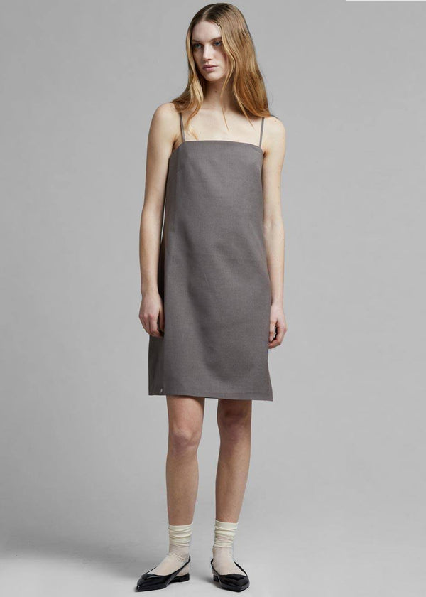 Mabel Woven Slip Dress in Mink Dress Cafe Noir
