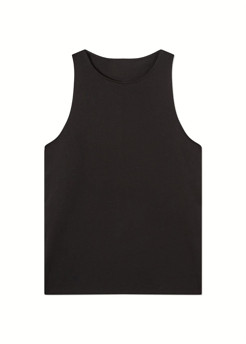 Mahina Tank Top by Loulou Studio- Black Top Loulou Studio