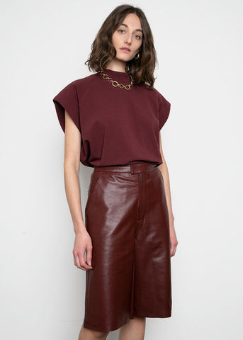 Manu Leather Shorts by Remain Birger Christensen- Port Royale Shorts Remain