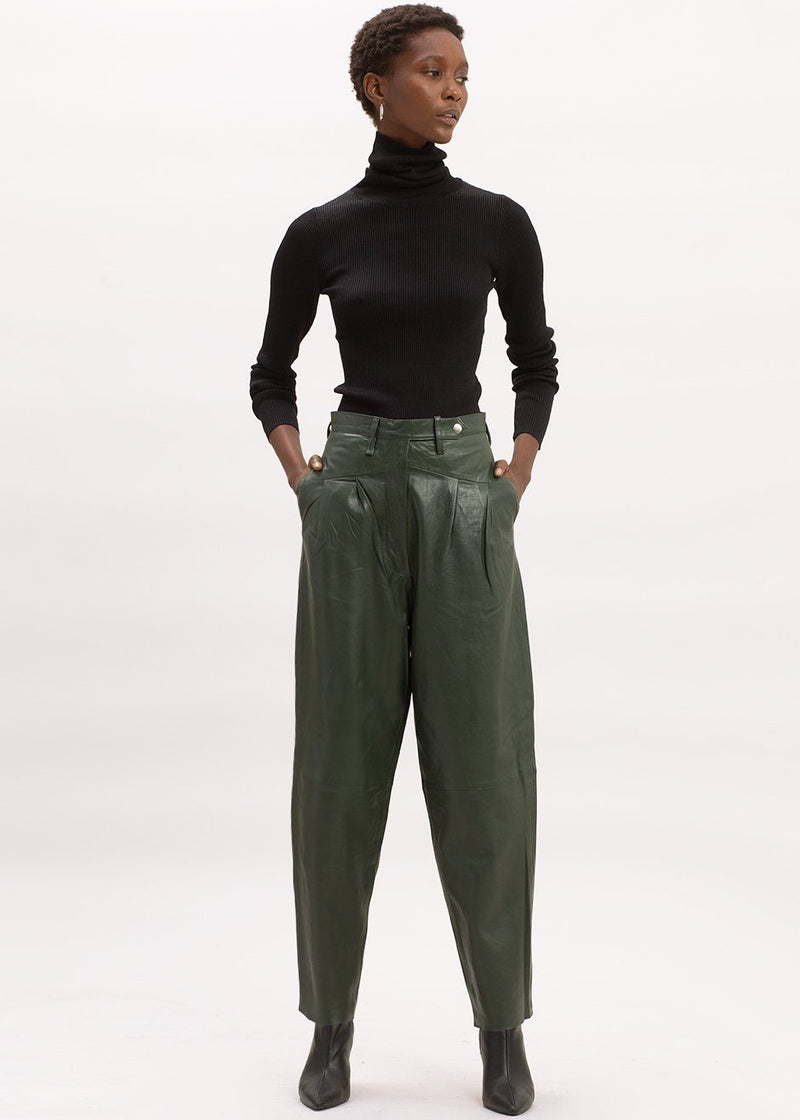 Marionette Leather Pants by Remain Birger Christensen in Deep Depths Pants Remain