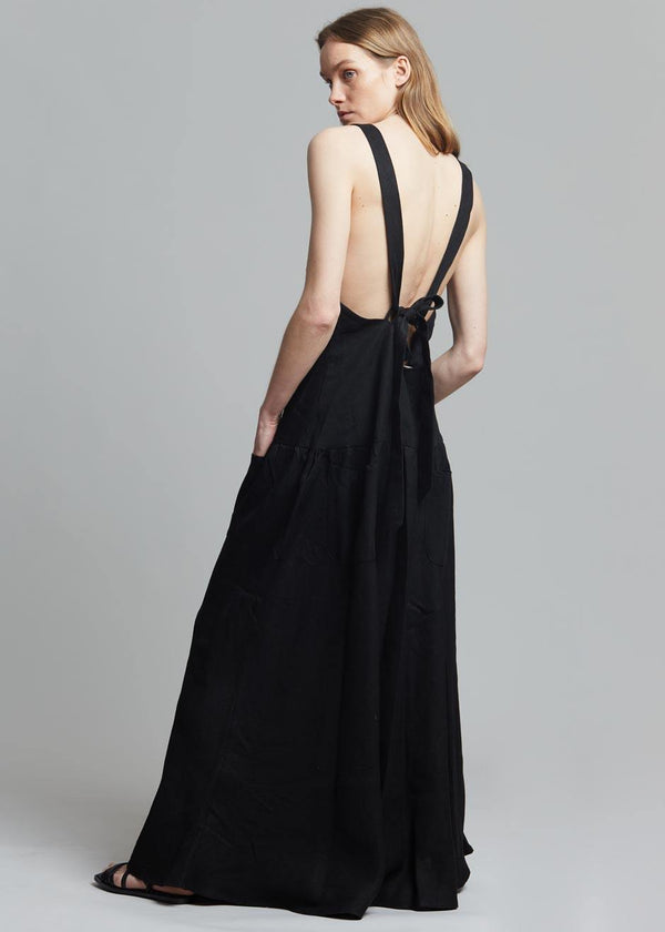 MATIN Cross Back Pocket Dress in Black Dress MATIN