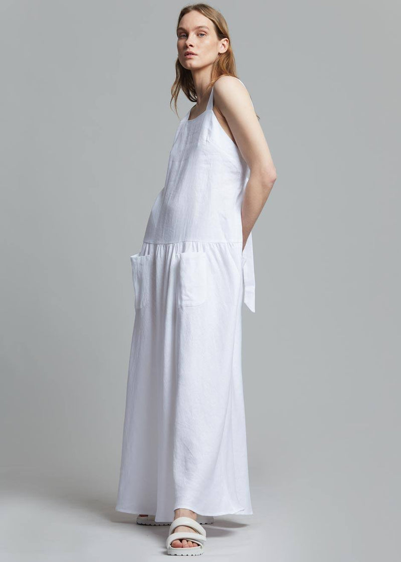 MATIN Cross Back Pocket Dress in White Dress MATIN