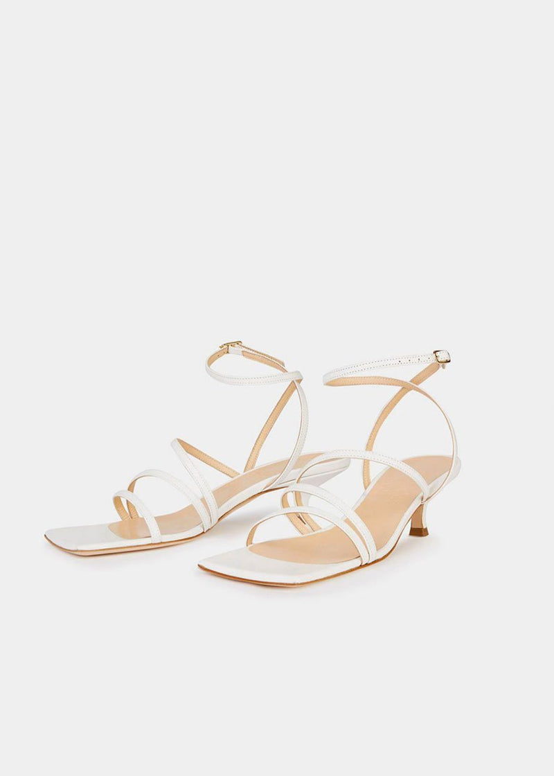 Maya Leather Sandals by A.W.A.K.E MODE- White Shoes Awake Mode