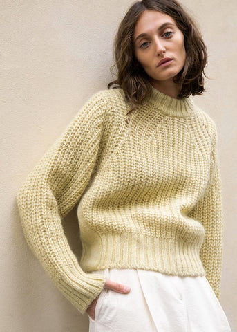Mellow Yellow Chunky Knit Sweater Sweater BPlan