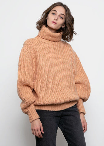 Melon Ribbed Turtleneck Sweater Sweater BPlan