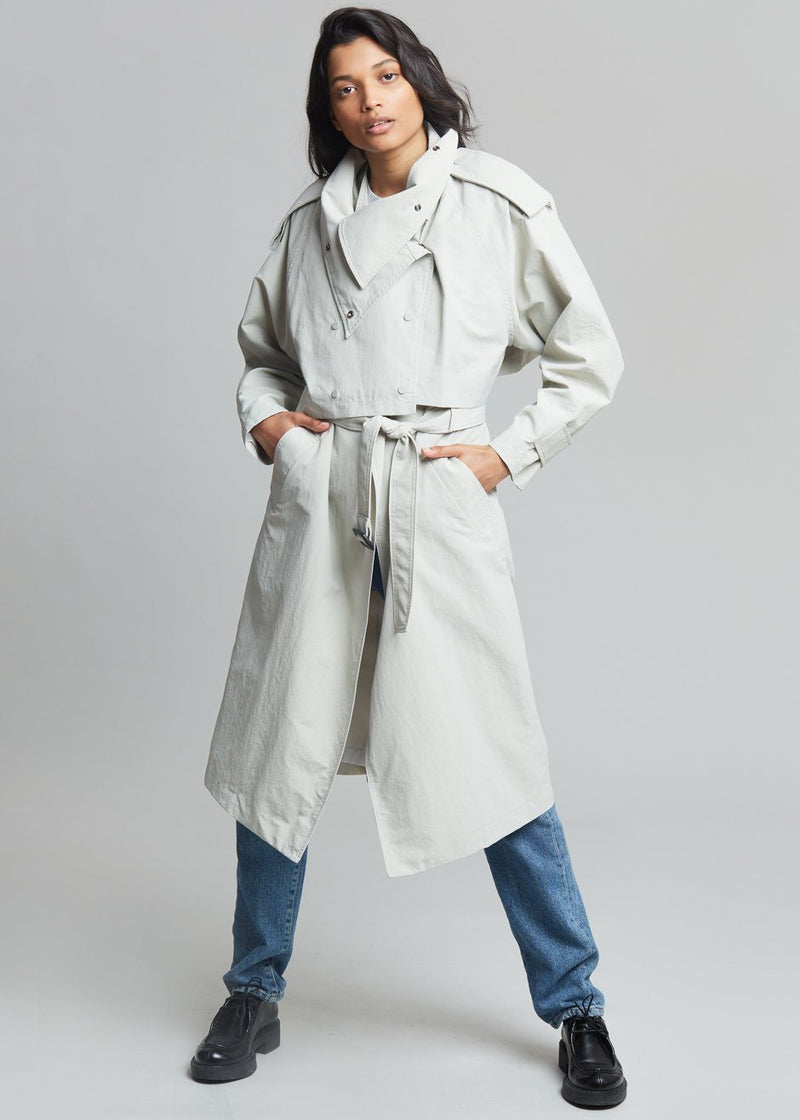Mille Double Layer Trench - Agate Coat The Frankie Shop