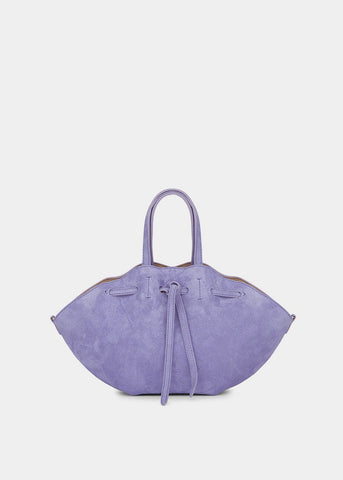 Mini Lynne Gathered Bag in Lilac Suede by Nanushka Bag Nanushka