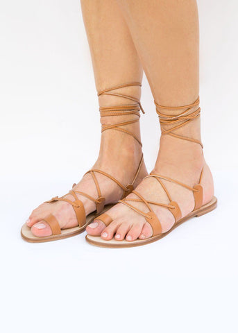 Mint & Rose Daria Natural Sandals Shoes Mint & Rose