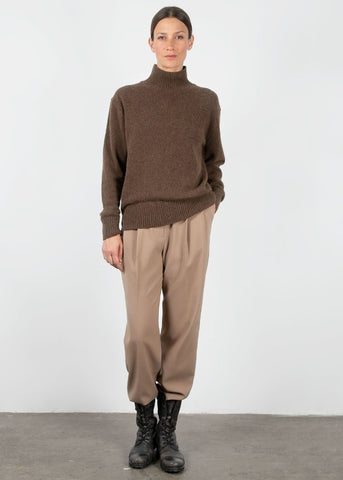 Mock Neck Sweater in Espresso Sweater Jelome