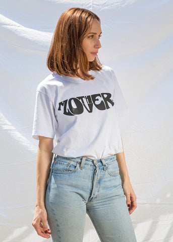 MOTHER LOVER White T-Shirt top The Frankie Shop