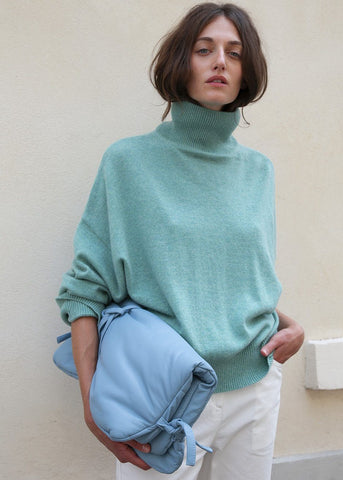 Murano Mint Turtleneck Sweater by Loulou Studio Sweater Loulou Studio