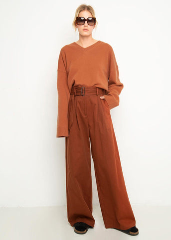 Museo Belted Pants in Encens by Shaina Mote Pants Shaina Mote