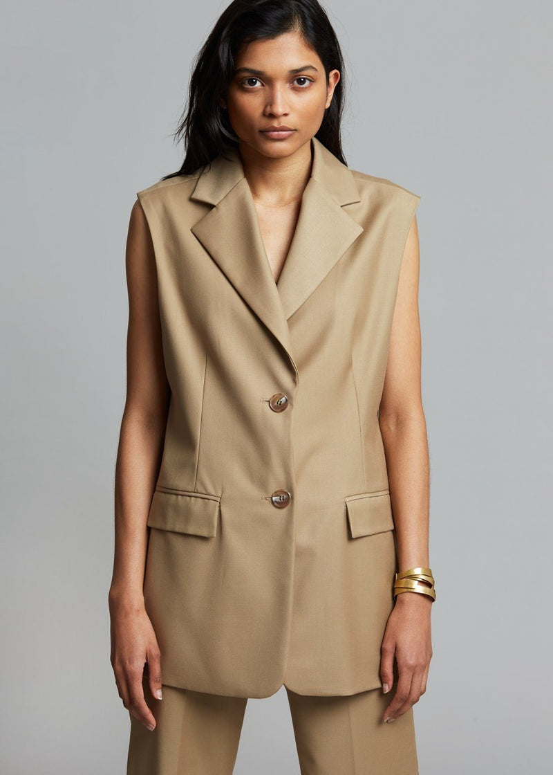 Nala Suit Vest - True Tan Vest The Frankie Shop
