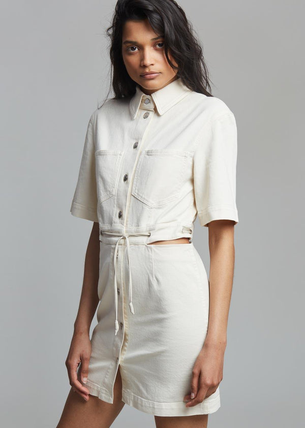 Nanushka Taylor Denim Dress - Creme Dress Nanushka