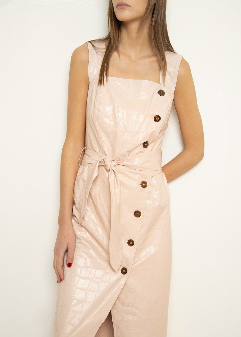 Nanushka Zora Wrap Front Strap Dress in Blush Dress Nanushka