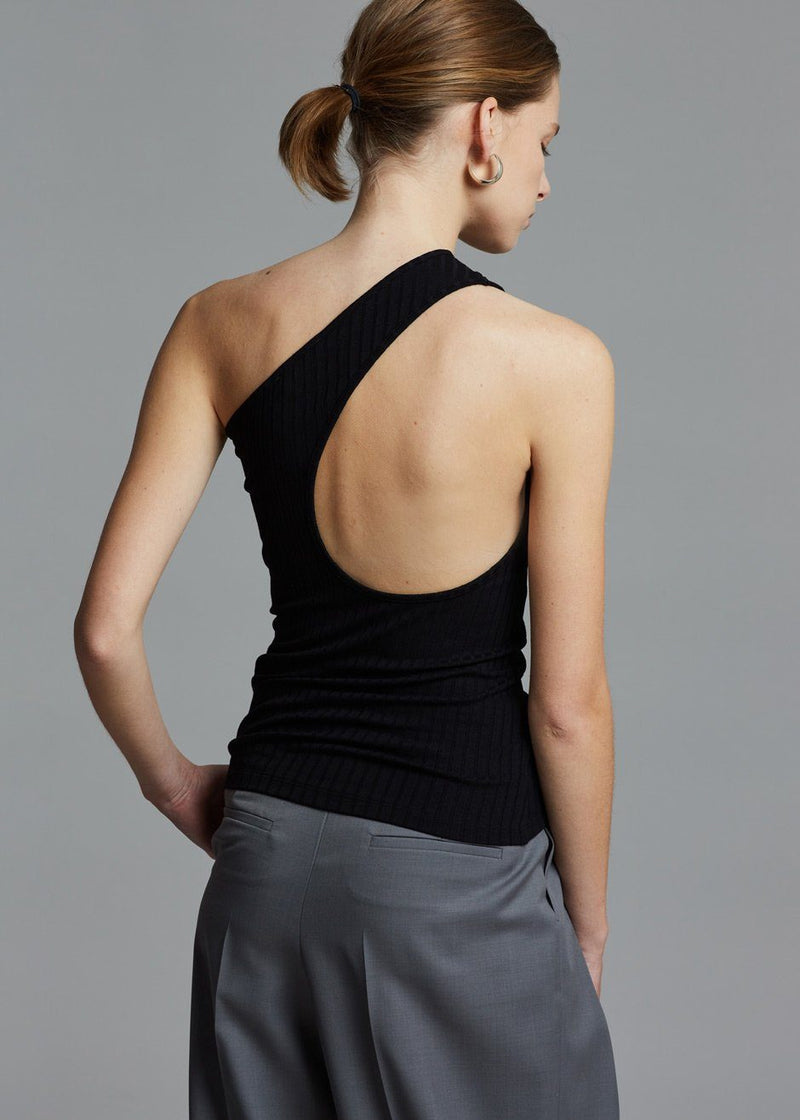 Navista One Shoulder Top by Rodebjer in Black Top Rodebjer