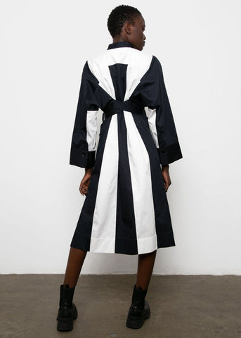 Navy & White Bonnie Dress by Eudon Choi dress eudon choi