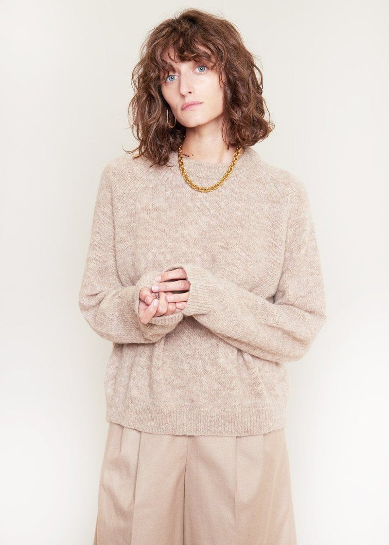Neta Crew Neck Sweater by Samsøe Samsøe in Wind Chime Sweater samsoe