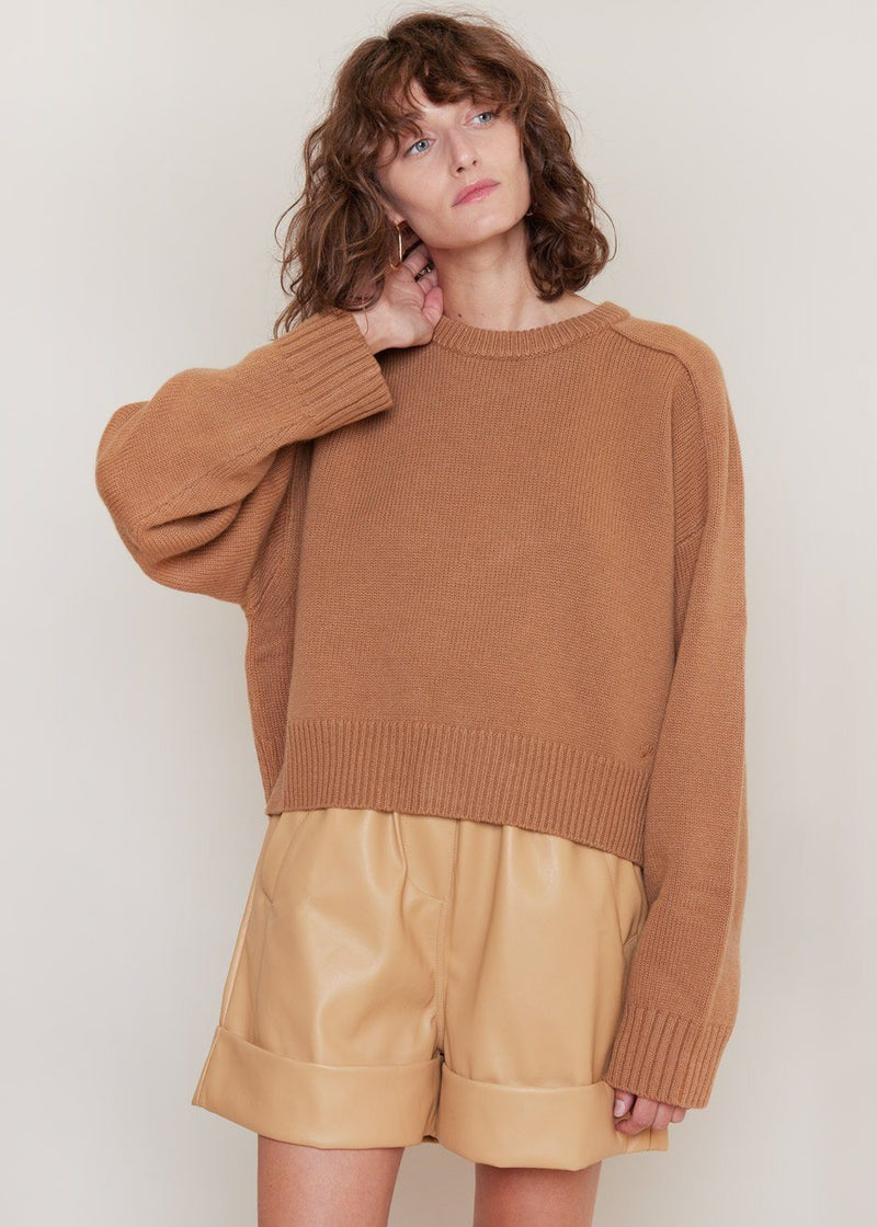 New Bruzzi Sweater by Loulou Studio in Camel Sweater Loulou Studio