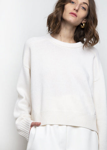 New Bruzzi Sweater by Loulou Studio- Ivory Sweater Loulou Studio