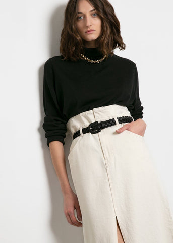 Nili Denim Skirt by Les Coyotes de Paris- Off White Skirt Les Coyotes de Paris