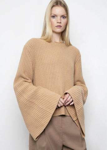 Noisette Tumaraa Ribbed Sweater by Loulou Studio sweater Loulou Studio