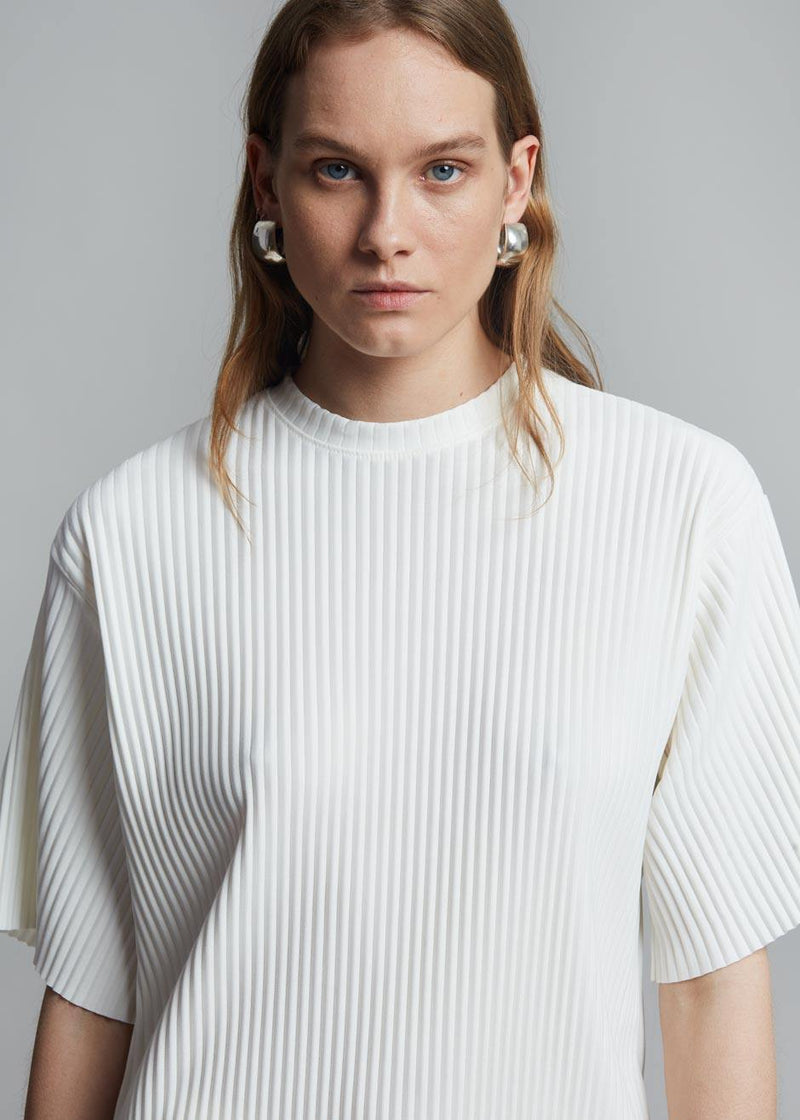 Odile Plissé Top in Milk Top The Frankie Shop