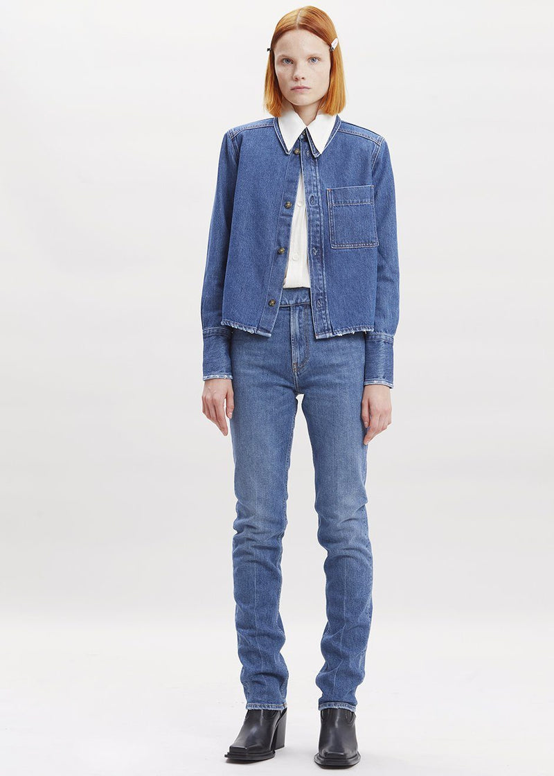 Olga Denim Shirt by Covert in Blue Shirt Covert