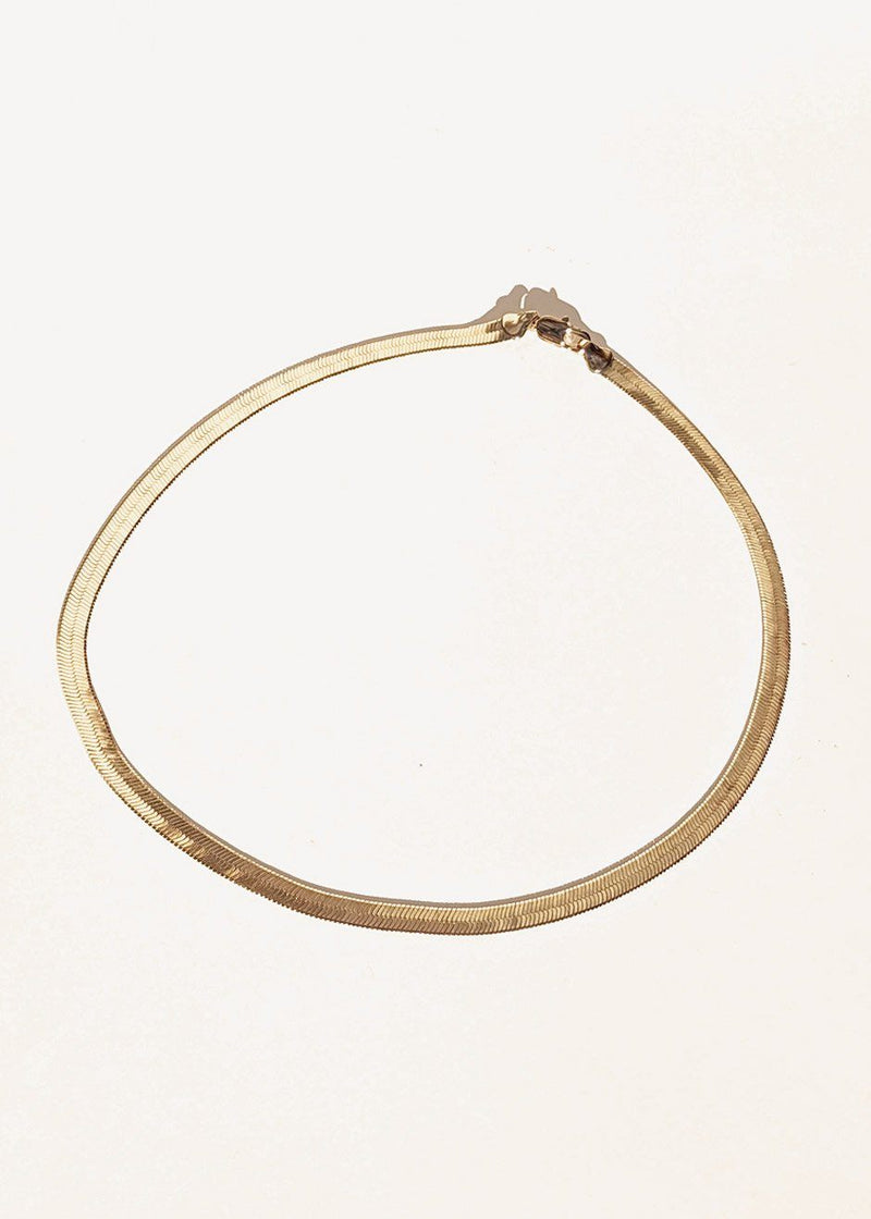 Omega Chain Necklace by Laura Lombardi in Gold Necklace Laura Lombardi