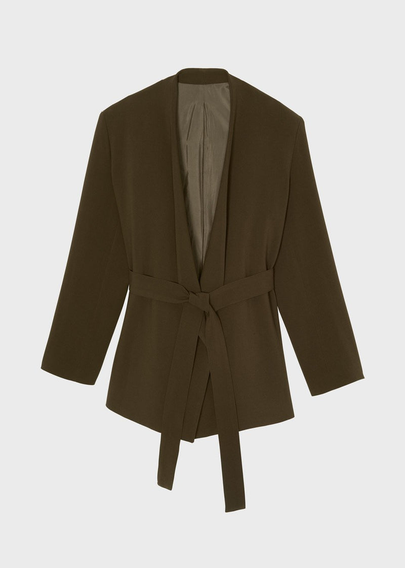 Open Front Blazer in Cardamom Blazer The Frankie Shop