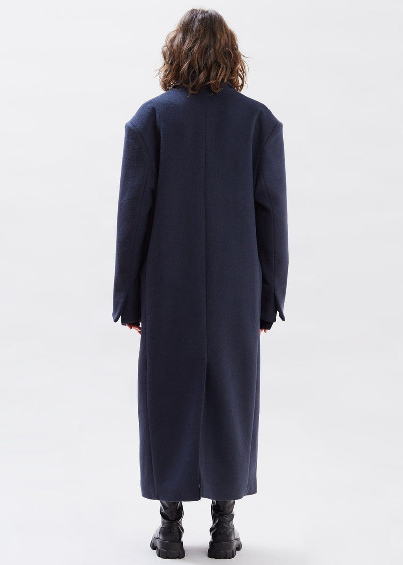 Oversized Grandpa Coat in Dark Indigo coat sunder market